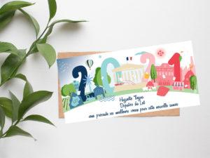 carte de voeux Huguette Tiegna