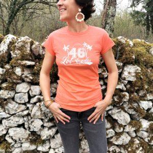 Tee-shirt femme lotoise sacre lotois quercy