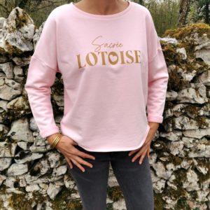 sweat-shirt sacree lotois 100% lotoise quercy